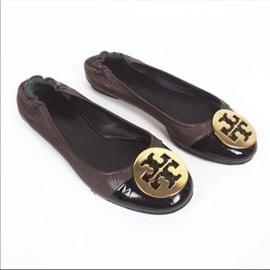 Tory Burch | brown leather Reva flats size 5.5